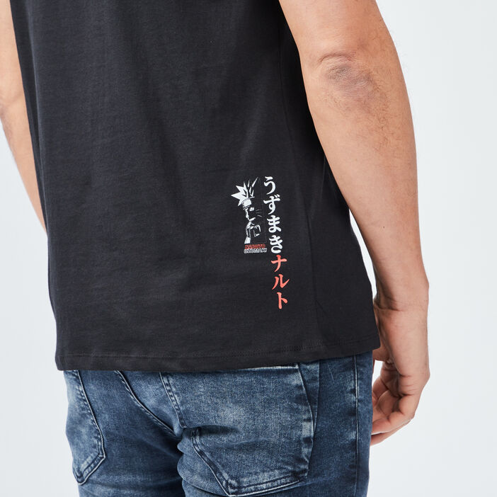 T-shirt manches courtes Naruto homme noir
