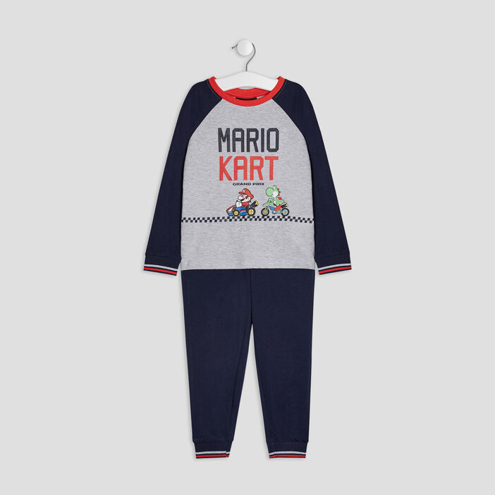 Ensemble pyjama Mario garçon bleu marine