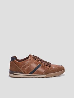 Sneakers plates Trappeur marron homme