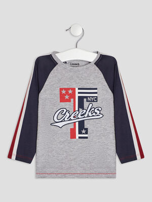 T shirt a manches 34 Creeks gris bebeg