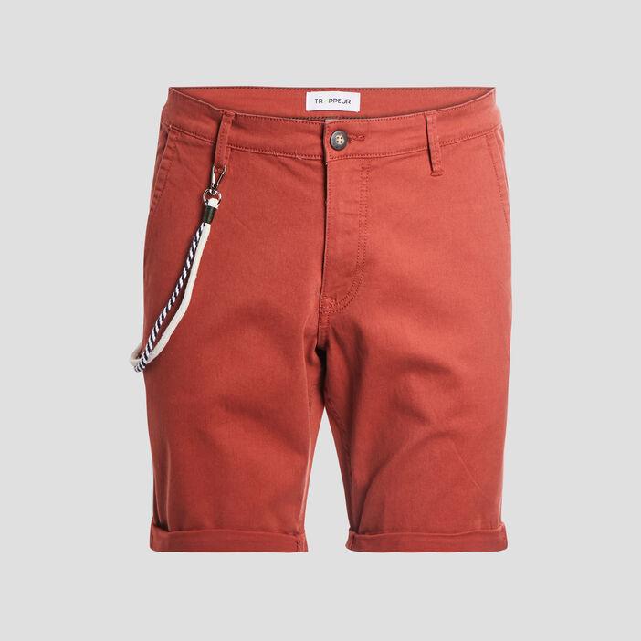 Bermuda droit Trappeur homme orange foncé