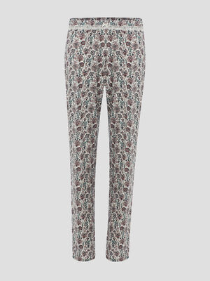 Gilet de pyjama a capuche en polaire multicolore femme