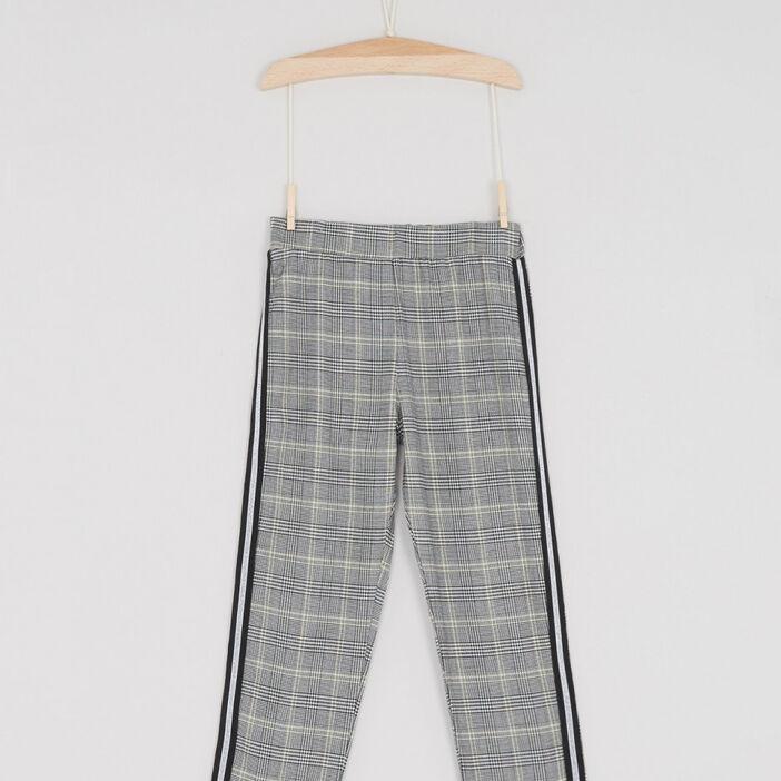 Pantalon imprimé prince-de-galles fille multicolore