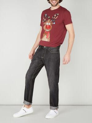 Jeans regular noir homme