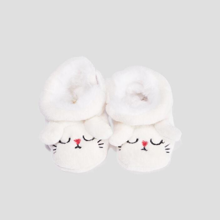 Chaussons bottines mixte blanc