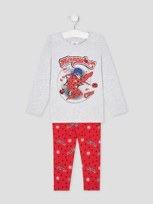 Pyjama Miraculous Ladybug gris fille