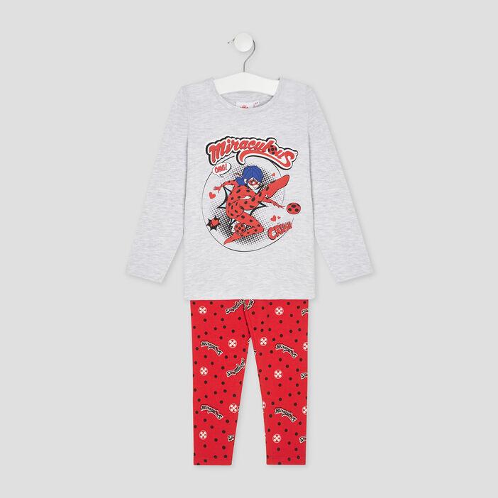 Pyjama Miraculous Ladybug fille gris