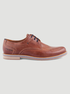 Derbies en cuir Pierre Cardin marron homme