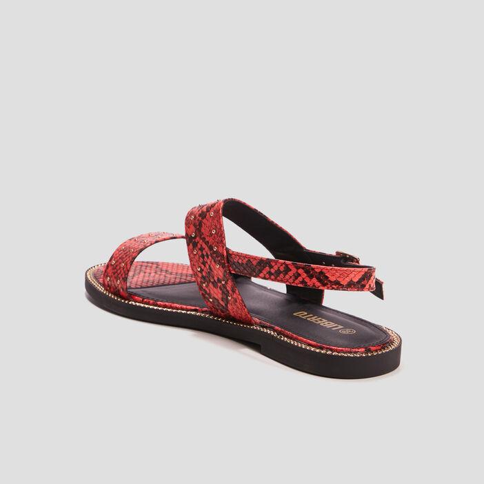 Sandales à clous Liberto femme rouge