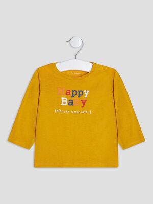 T shirt manches longues jaune bebeg