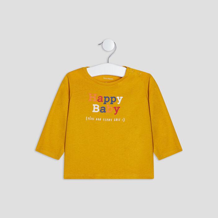 T-shirt manches longues bébé garçon jaune
