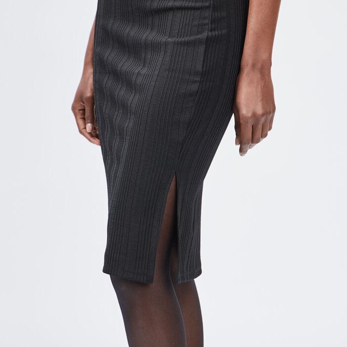 Jupe ajustée fendue femme noir