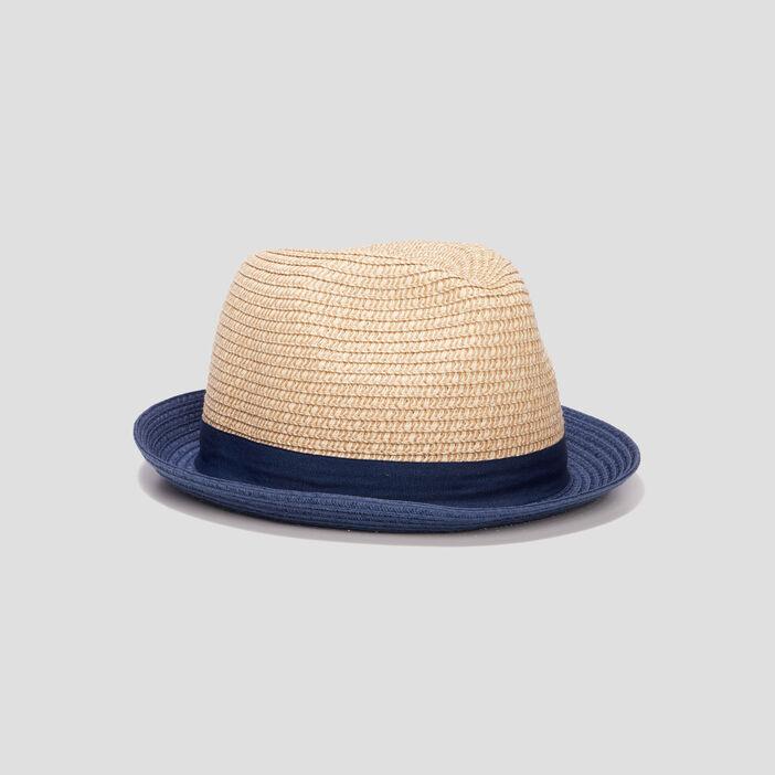 Chapeau borsa tressé homme bleu