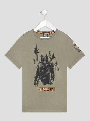 T shirt The Mandalorian vert kaki garcon