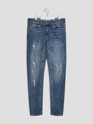 Jeans regular Creeks denim double stone fille