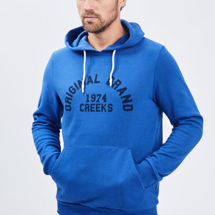 Sweat à capuche Creeks homme bleu roi