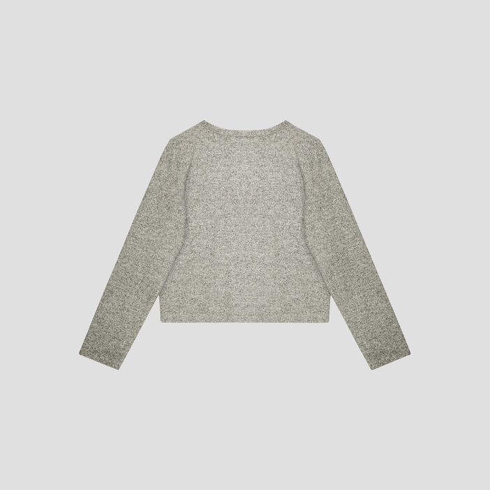 Pull manches longues fille gris
