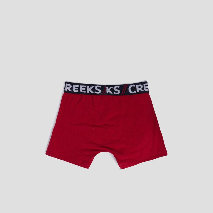 Lot 3 boxers Creeks garçon rouge
