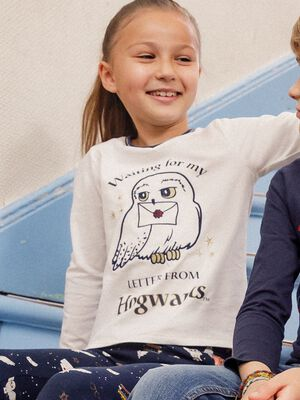 T shirt Harry Potter ecru fille