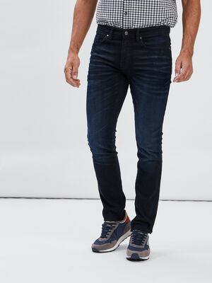 Jeans slim stretch Liberto denim blue black homme