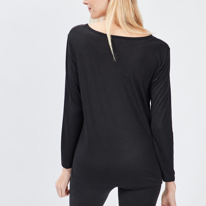Haut de pyjama femme noir