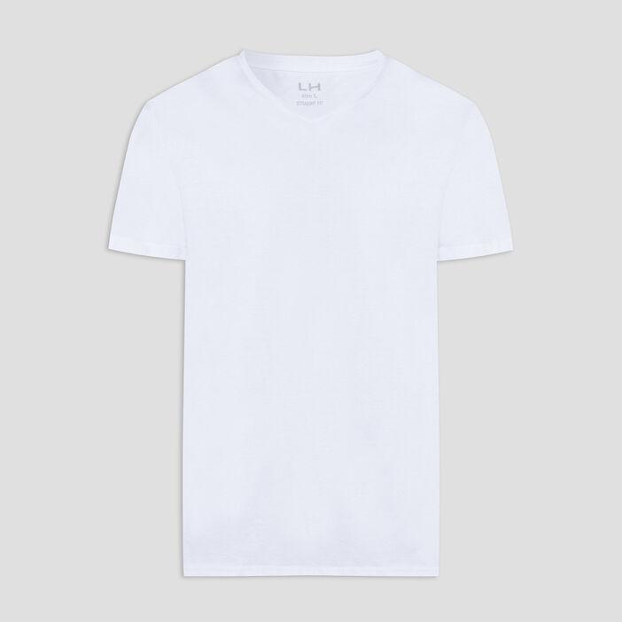 T-shirt manches courtes homme blanc