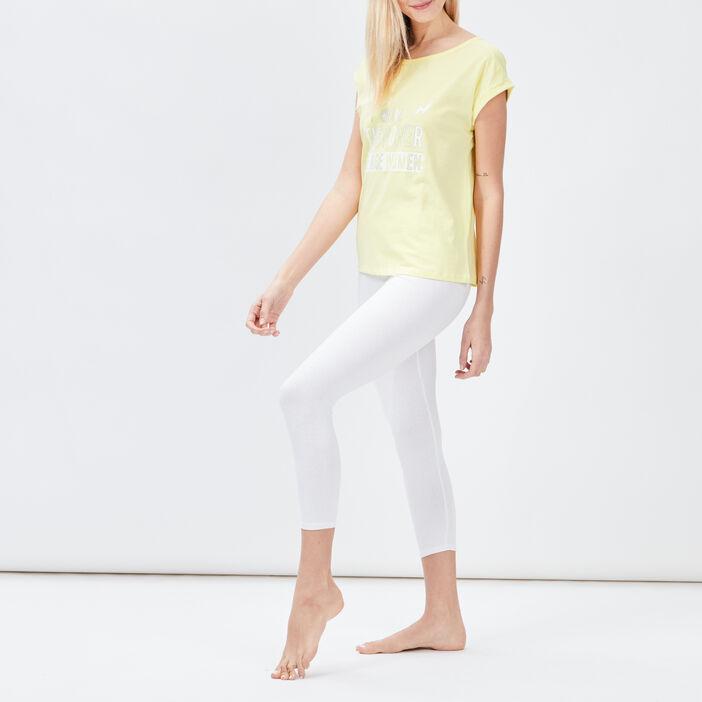 Haut de pyjama Liberto femme jaune