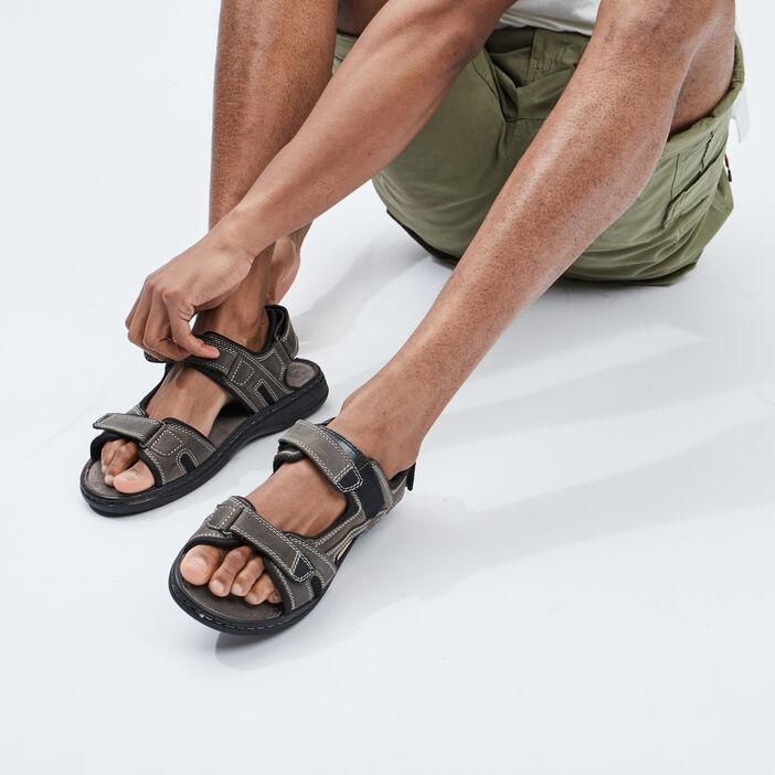 Sandales en cuir Trappeur homme gris