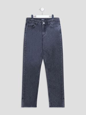 Jeans straight Liberto denim noir fille
