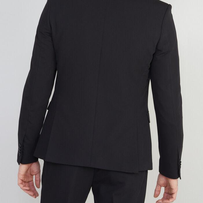 Veste slim avec 2 boutons homme noir