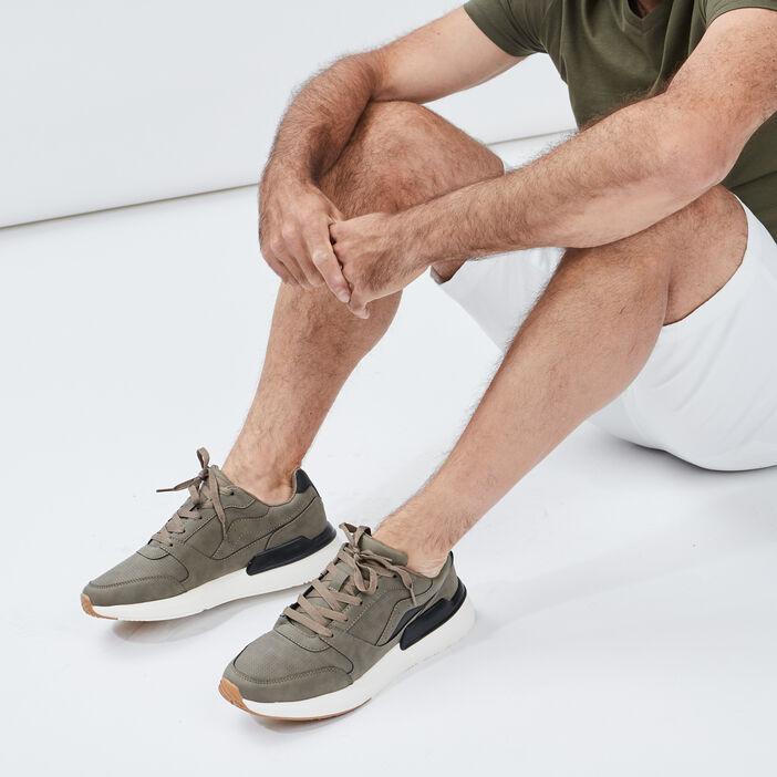 Runnings à lacets homme marron