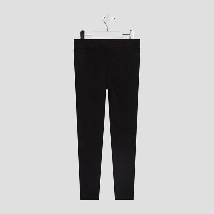 Pantalon legging avec bandes fille noir