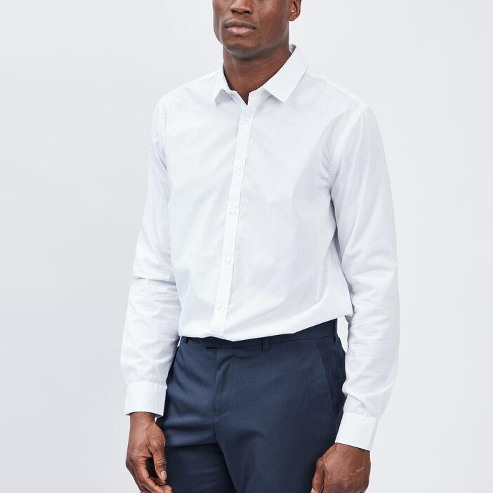 Chemise manches longues Studio homme blanc