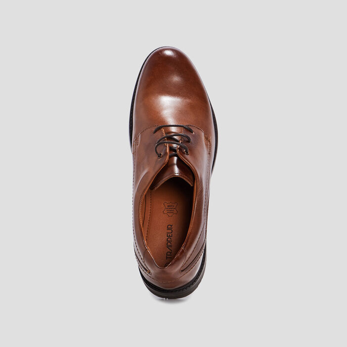 Derbies en cuir Trappeur homme marron