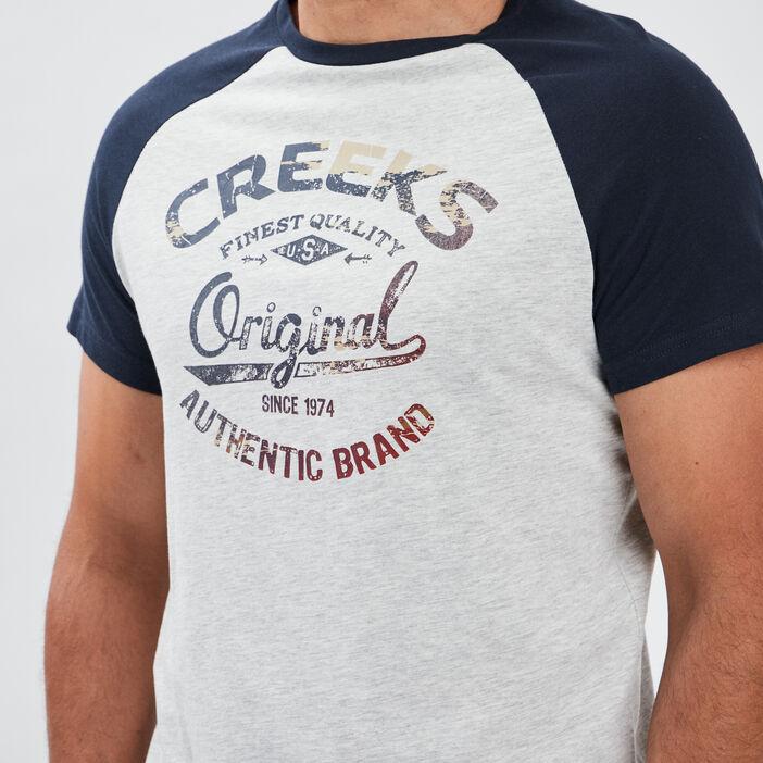 T-shirt manches courtes Creeks homme bleu marine
