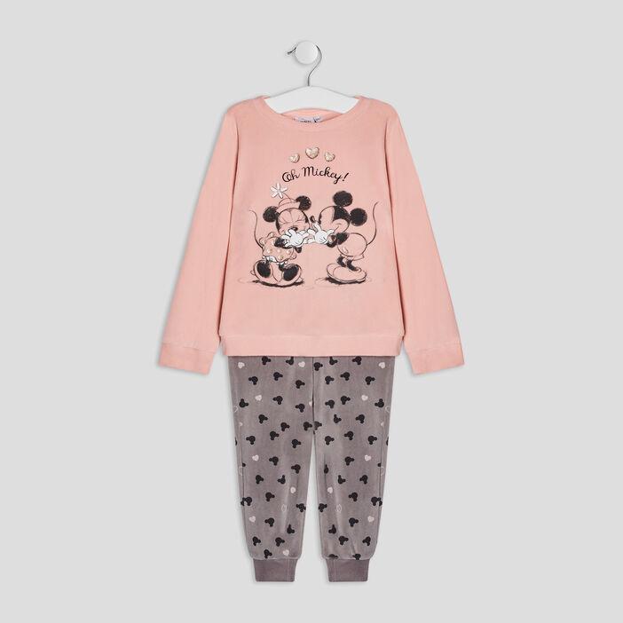 Ensemble pyjama Mickey fille rose