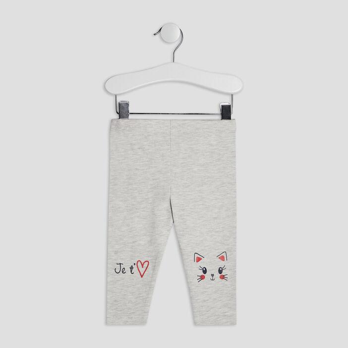 Pantalon legging bébé fille ecru