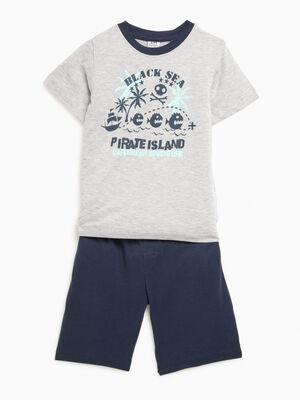 Pyjama pirates gris garcon