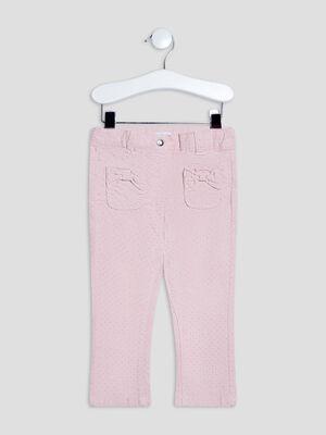 Pantalon slim rose clair bebef