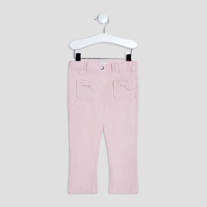 Pantalon slim bébé fille rose clair