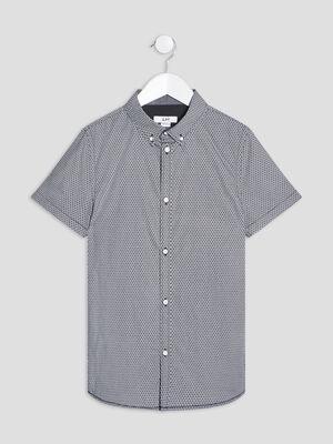 Chemise manches courtes noir garcon
