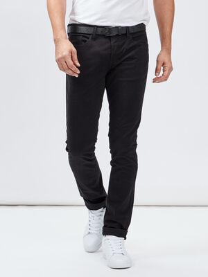 Pantalon slim ceinture Liberto noir homme