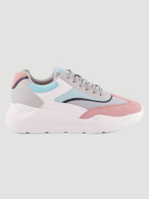 Dad shoes multicolores multimatieres multicolore femme