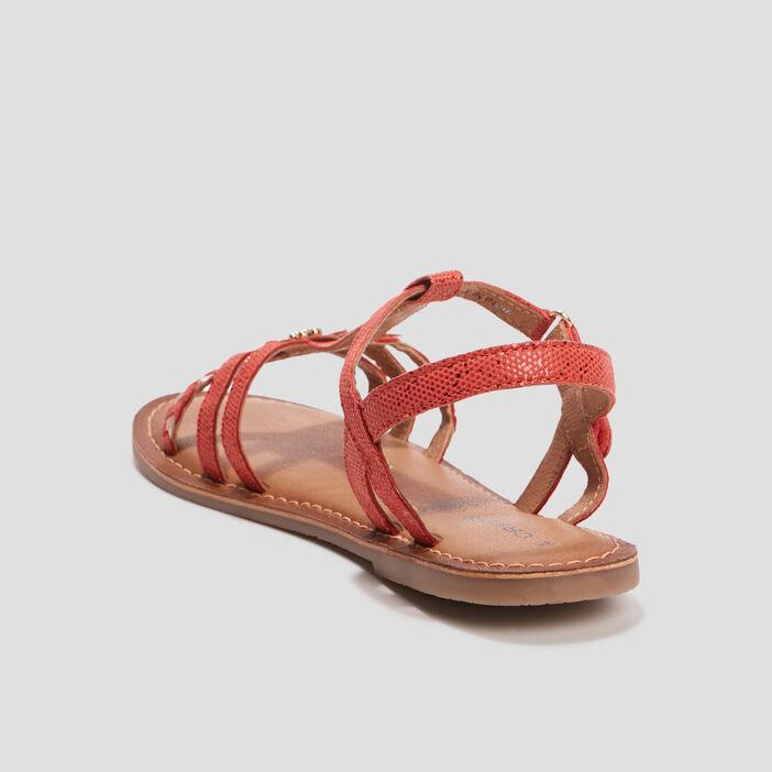 Sandales à détail bijou Creeks fille rouge