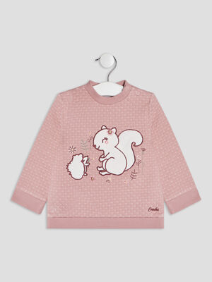 Pull manches longues rose bebef