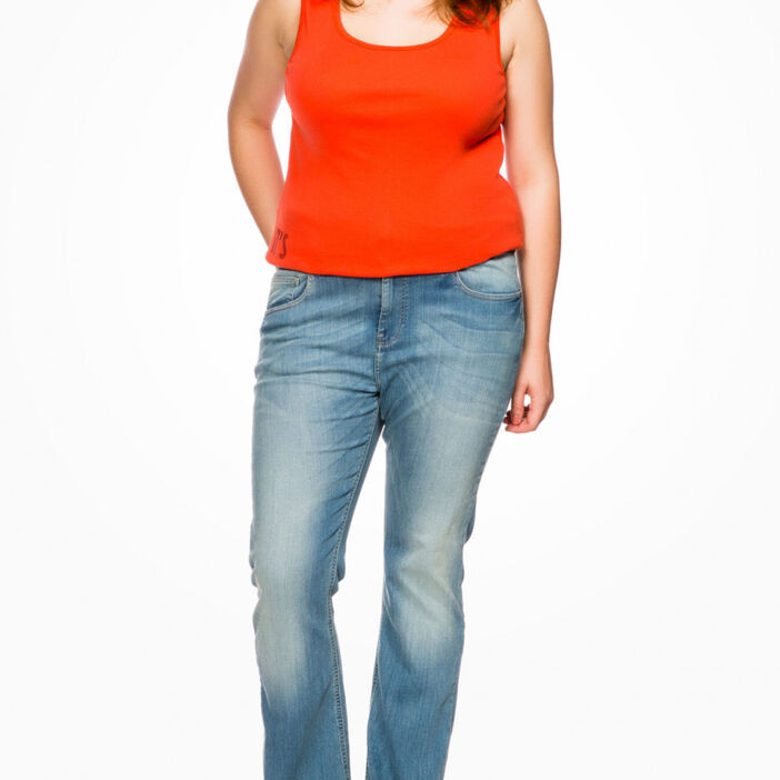 Jean coton majoritaire grande taille femme denim stone