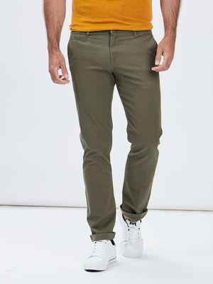 Pantalon regular vert kaki homme