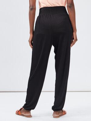 Pantalon droit fluide noir femme