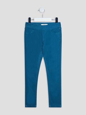 Pantalon tregging bleu canard fille