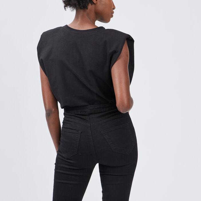 Sweat sans manches femme noir
